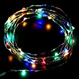 SUPTMAX 100Led 33ft USB Garden Lights String Lights Waterproof Copper Wire LED Starry Light Suitable for Christmas Wedding Home Party Indoors and Outdoors (100LED USB, Multicolor)