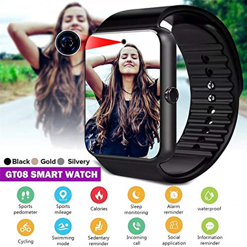Eubell Smart Watch with SIM Card Slot Bluetooth Fitness Tracker Watch with Pedometer Sleep Tracker Smartwatch