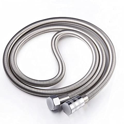 Stainless Steel Shower Hose Extra Long 79 Inch Length Flexible Chrome Hose for Bathroom Hand (Girevole Tubo Connettore)
