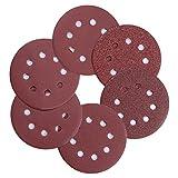 PChero 50PCS 5 inches 8 Holes Sanding Discs Pads, 60/100/180/240/320/400-Grit Hook and Loop Aluminium Oxide Sandpaper for Random Orbital Sander (Original Version)