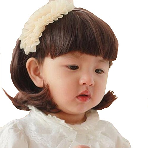 YYTA Short//Long Curly Wave Cosplay Wig Hair Adjustable Costume Synthetic Heat Resistant for 5-10 Years Children Girl
