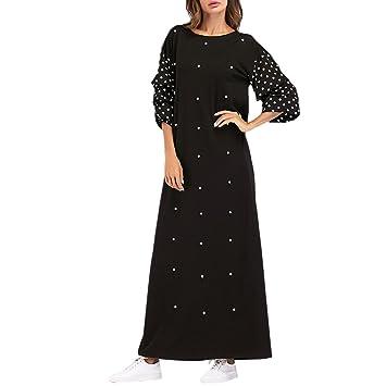 cc6a1412d2f Zhuhaitf Branché Usure Quotidienne et Soir Fête Robe Marocain Maxi Robes  pour Femmes Dubai Abaya Dress Acheter