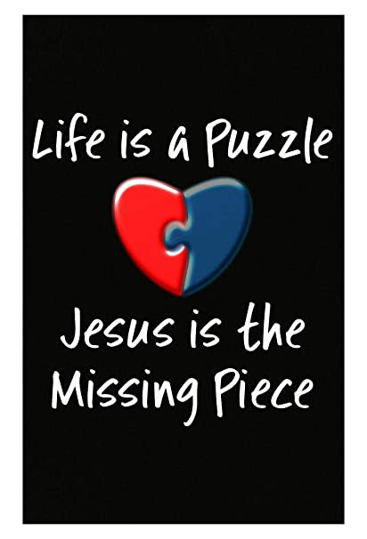 Amazon McCaff Merch Religious Quotes Life Is A Puzzle Jesus Is Unique Posters With Quotes On Life