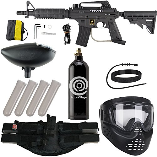 Action Village Tippmann Epic Paintball Gun Package Kit (US Army Alpha Black Elite Tactical) (Standard)