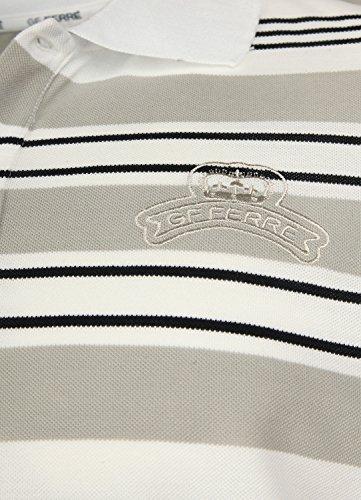 Gianfranco Ferre Herren Poloshirts Grau/Weiß/Schwarz 69YF2751-82092-R827, size:XL