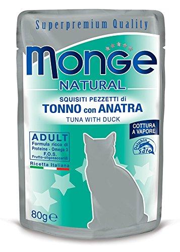Monge, natural - Comida para gatos, Pezzetti de Tonno con pato, 80 g, 1 Bolsita: Amazon.es: Productos para mascotas