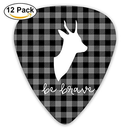 Black Light Plaid Moose Buffalo Jazz Thin Heavy Medium Light Guitar Picks Boys 12 Packs Cigar Box Guitar