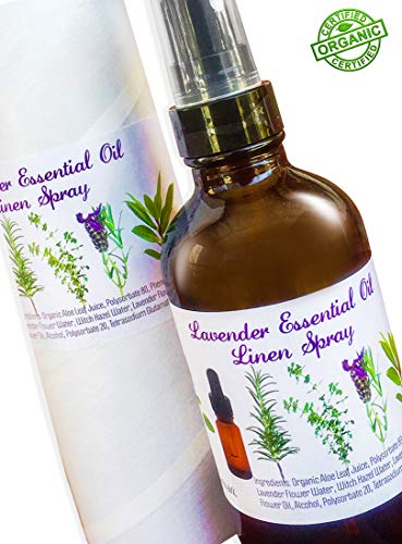 Lavender Essential Oil Aromatherapy Pillow Spray: Organic Pillow Mist for Linens. Lavender Essential Oil is the Natural, Organic Way to Calm, Relax, Unwind - (Make Lavender Linen Spray)