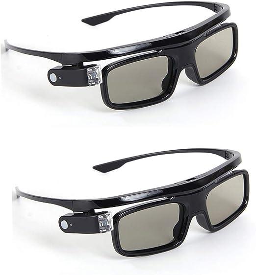 JJJ Gafas 3D Active Shutter Gafas 3D con Aplicable A La Tuerca ...