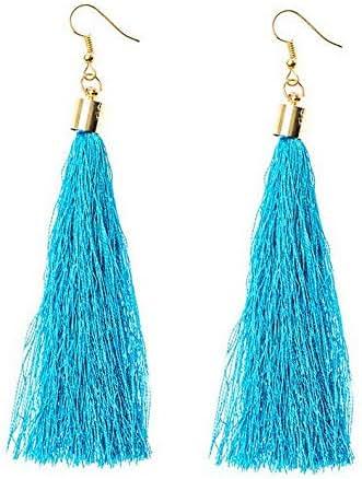 Crookston Bohemian Women Stud Earrings Boho Long Tassel Fringe Drop Dangle Jewelry Gift | Model ERRNGS - 1475 |