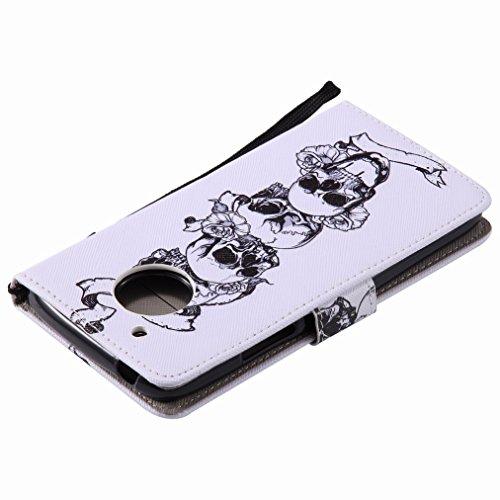 Tpu Yiizy Basamento Silicone Carta Pelle Motorola Di Lembo Sportellino Guscio Caso Disegno Protezione Del Raccoglitore Scanalatura Intelaiatura G5 Cranio Moto Coprire Respingente Sottile Cuoio Stile aUaqwSxr
