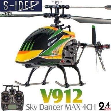 s-idee® 01141 | V912 4.5 Kanal 2,4 Ghz Heli Hubschrauber RC ferngesteuerter Hubschrauber/Helikopter/Heli mit LCD Display und GYROSCOPE-TECHNIK + 2,4Ghz TECHNOLOGIE!!! für INNEN und AUSSEN brandneu mit eingebautem GYRO und 2.4 GHz Steuerung! FLUGFERTIG!