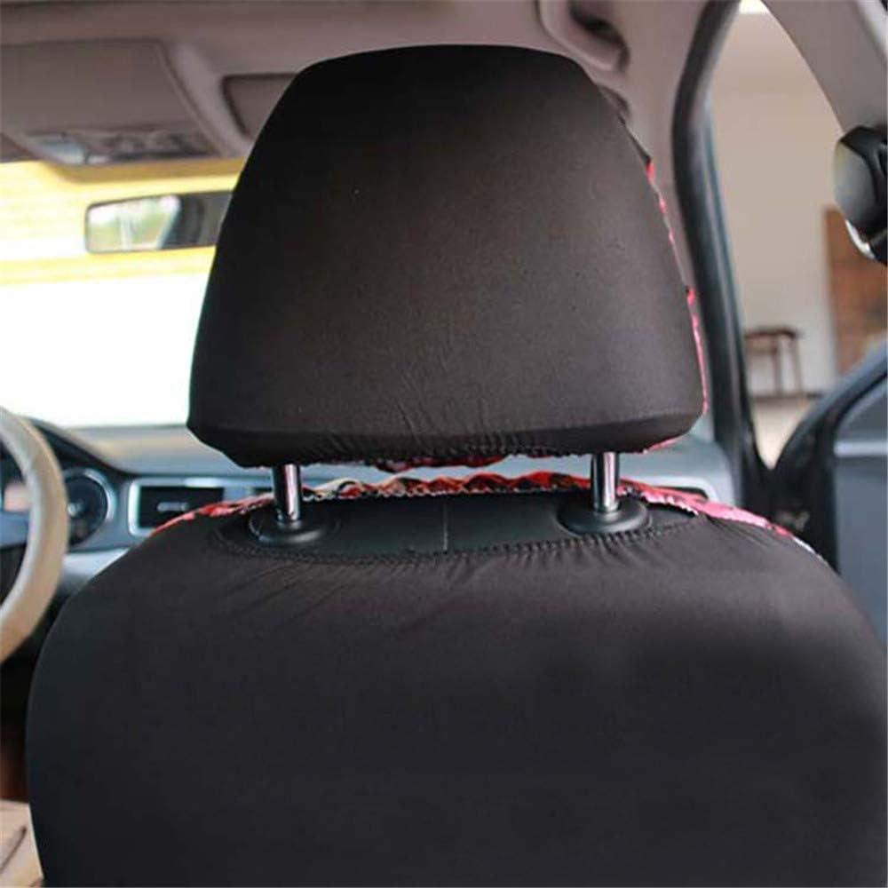 Universal-Autositzbezug 99/% des Autos ist f/ür die Verwendung geeignet ,Grau Farbe: rot Universalkissen in Gecko-Stickerei