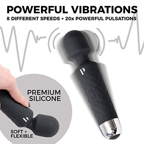 Travel Massager w/USB Charging - Handheld Silicone Massager to Help Relieve Pain in Sore Muscles - Helps to Release Tension and Alleviate Stress - Color: Black by Professionale (Image #3)