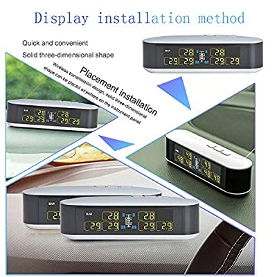 INFITARY RV TPMS Tire Pressure Monitoring System Truck Trailer Real Time Monitor Tire Pressure Temperature Air Leakage Battery Auto Alarm 6 Anti-Theft External Cap Sensor for 4-6 Tires' Car Pickup Tow: Automotive