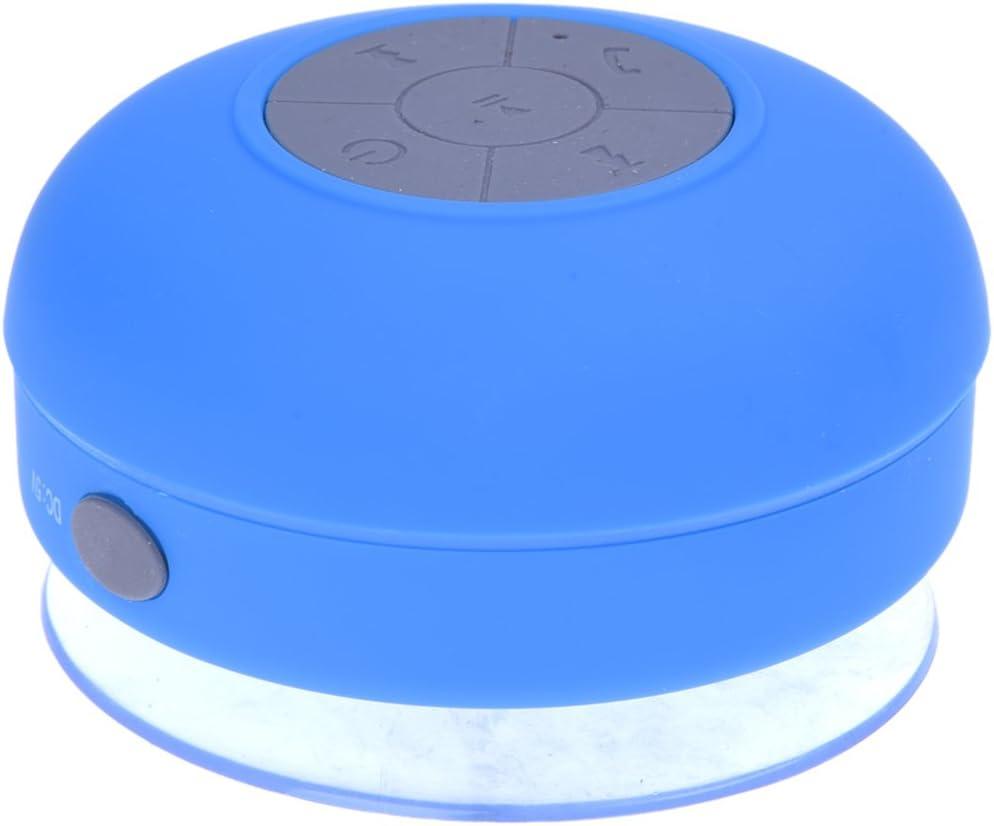 SODIAL(R) Altavoz bluetooth ducha Inalambrico Impermeable con Ventosa Manos libres bano Piscina Coche Cocina con microfono Impermeable Portatil Azul Compatible con movil y tablet para iPhone, iPad, iP