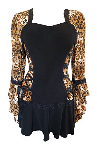 - Dare to Wear Victorian Gothic Boho Women's Plus Size Bolero Corset Top Wildcat 1x