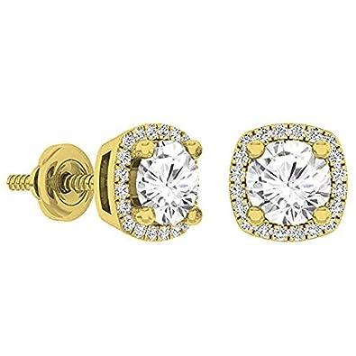 eb3649878 Amazon.com: Fingalo 1.10 Carat (Ctw) 10K Yellow Gold Round Cut White ...