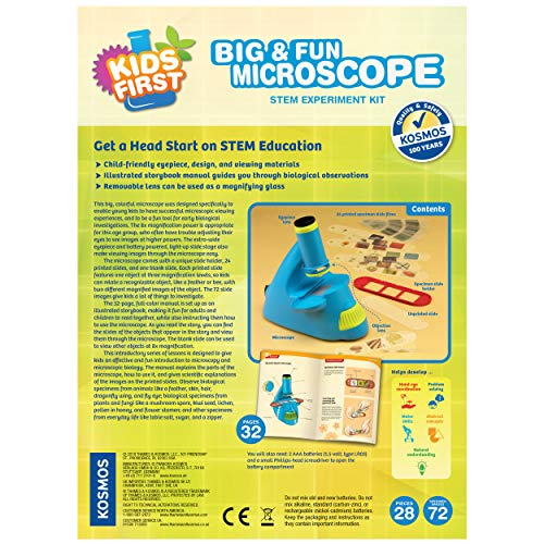 Thames & Kosmos 634032 Kids First Big & Fun Microscope Science Experiment Kit by Thames & Kosmos (Image #1)