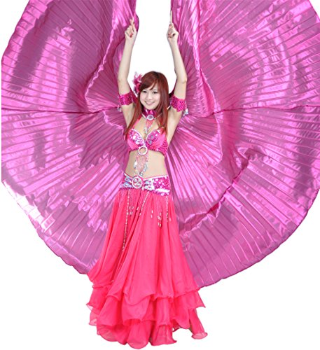 Dance Fairy Belly Dance Isis Wings Stage Dance Prop,Rose (Latin Dancing Costume Patterns)