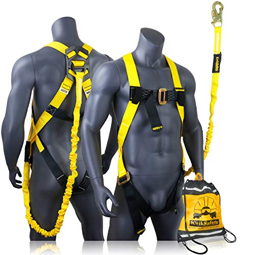 Kwiksafety Charlotte Nc Scorpion Safety Harness W Attached 6ft Tubular Lanyard On Back Osha Ansi Fall Protection Internal Shock Absorbing Lanyard Construction Carpenter Scaffolding On Galleon Philippines