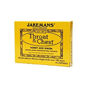 Jakemans Throat and Chest Lozenges - Honey and Lemon - 24 Pack , Jakemans , Cough/Cold, Health Supplements