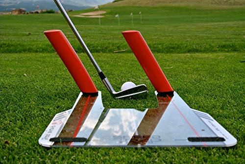 EyeLine Golf Speed-Trap Base, 4 Red Speed Rods and Carry Bag; Shape Shots and Eliminate a Slice or Hook - Made in USA, 12