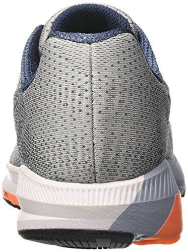 Nike Air Zoom Structure 20, Zapatos para Correr para Hombre Gris (Wolf Grey/black/squadron Blue/tart)
