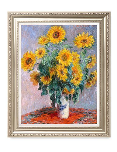 DecorArts - Monet Sunflowers, Claude Monet Art Reproduction. Giclee Print& Museum Quality Framed Art for Wall Decor. by DECORARTS