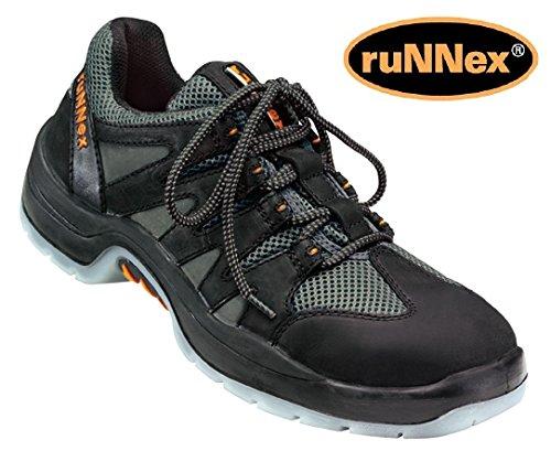 ruNNex Sicherheitsschuhe 5102-50 - S1 - schwarz-grau mit Textileinsätze