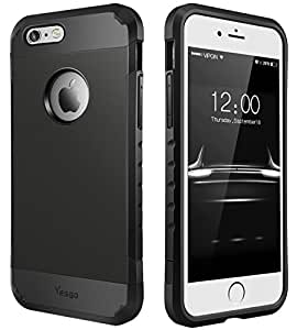 iPhone 6S Case, iPhone 6 Case, Dual Layer Heavy Duty Rugged Protective Case for iPhone 6S & iPhone 6 4.7 inch - Matte Black