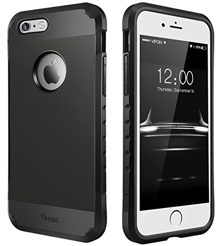 iPhone Anti Scratch Shockproof Protective Black