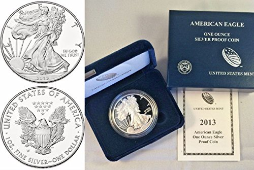 2013 2013 W 1oz Proof Silver Coin $1 American Eagle Un coin Good Uncertified