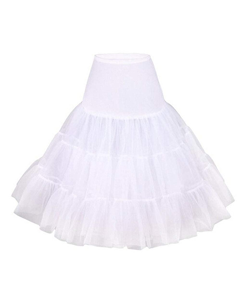 Taigood Jupon ann/ées 50 Vintage en Tulle Rockabilly Petticoat Femme Fille