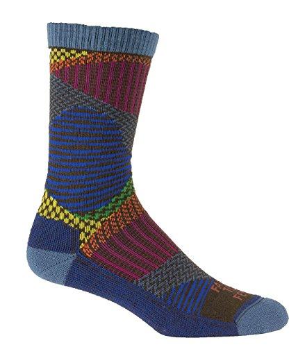 Farm to Feet Valle Crucis Patchwork Socks, Crayon, X-Large (Socks Crayon)