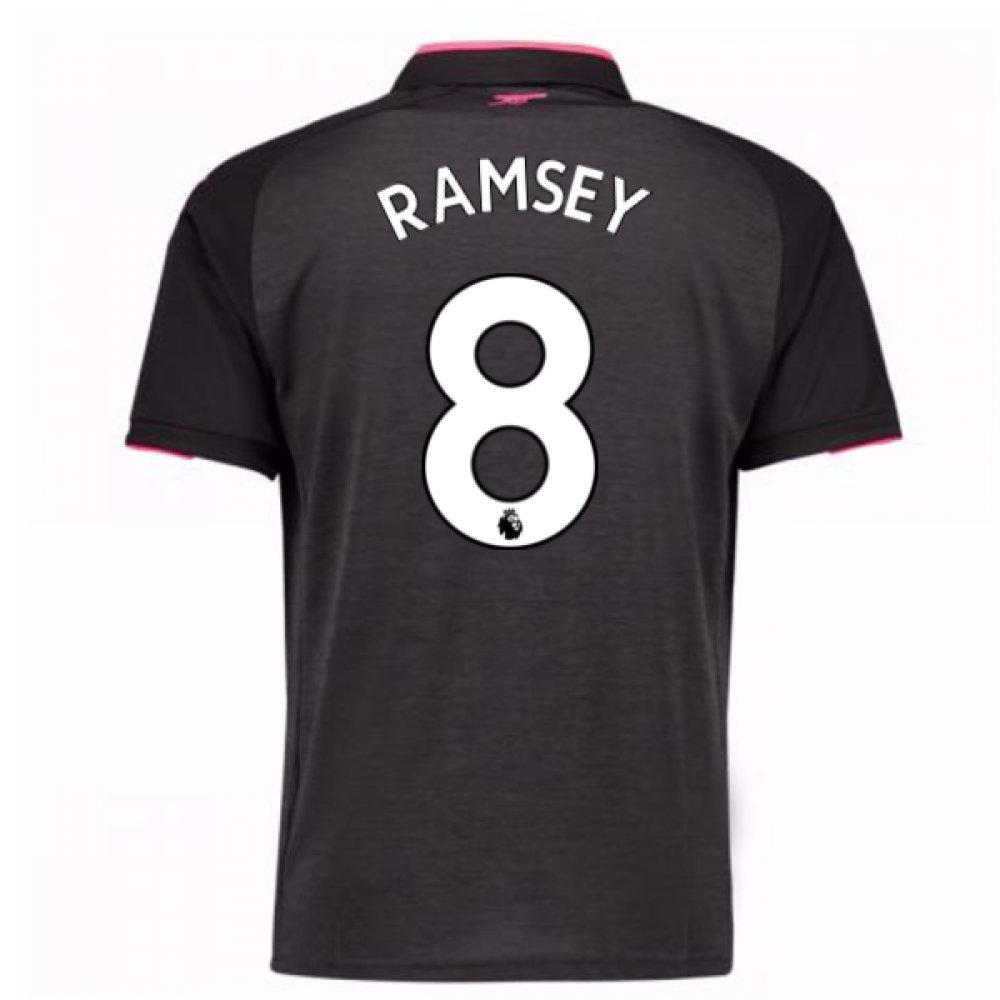 2017-18 Arsenal Third Shirt (Ramsey 8) B077PVXMXDGrey XL Adults