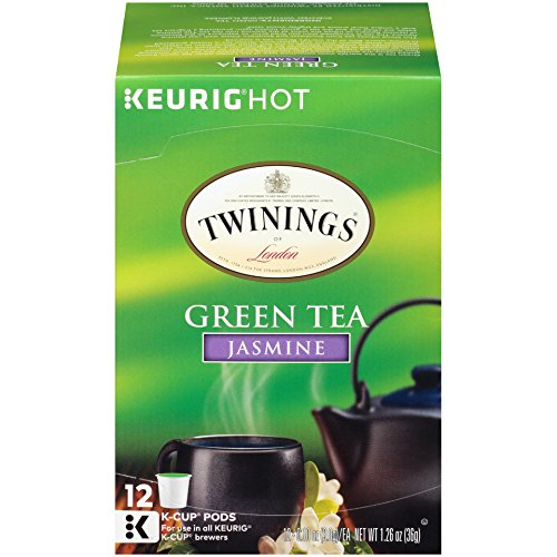 - Twinings of London Jasmine Green Tea K-Cups for Keurig, 12 Count