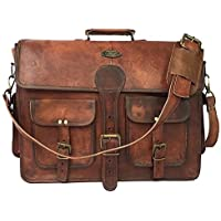 TUZECH Large Bold and Stylish Hunter Leather Bag Handcrafted Messenger Office Regular Bag Fits Laptop Upto