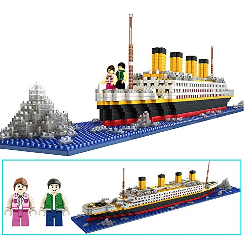 dOvOb Nano Blocks Titanic Model Building Set, Intellective Building Bricks, 3D Puzzle DIY Educational Toy, Gift for Adults and Children(1860 -
