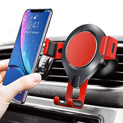 SAMONEL Gravity Phone Holder for Car, Hands Free Car Phone Mount Gravity Cell Phone Holder for Car Vent Phone Holder Car Mount for Samsung Galaxy Note10 S10 iPhone XR XS MAS 8 Plus 7 Plus Accessories