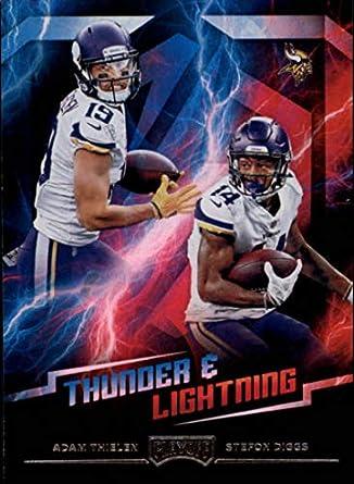 a1645f5e Amazon.com: 2018 Playoff NFL Thunder and Lightning #20 Adam Thielen ...
