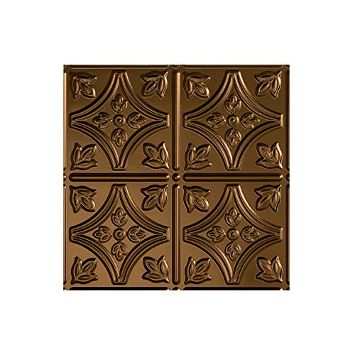 FASÄDE - Easy Installation Traditional Style/Pattern #1 Oil-Rubbed Bronze Lay in Ceiling Tile/Ceiling Panel (12X12 Inch Sample)