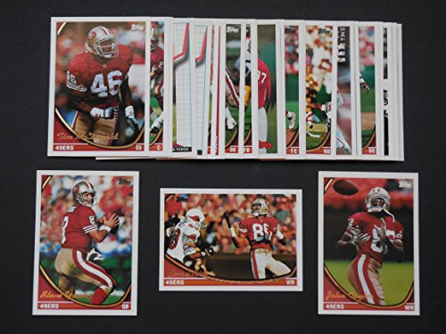 San Francisco 49ers 1994 Topps Football Team Set (Super Bowl Champions) (26 Cards) ** featuring Steve YoungJerry Rice,, John Taylor, Tim McDonald, Merton Hanks,Harris Barton,Dana Stubblefield, Dennis Brown, Marc Logan, Eric Davis,Bryant Young, Ken Norton, Brent Jones,Adrian Hardy, Rickey Watters, Todd Kelly, Dexter Carter and More** ()