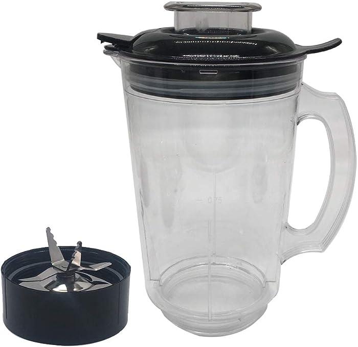 Joystar 1 pcs Replacement Part 48 oz cup with ice shaver blade for Magic Bullet Blender, Mixer, Juicer, Food Processor (MBR-1701 /MBR-1702 /MBR-1101/ MB-BX1770-02/ MB1001/ MBR-0301)