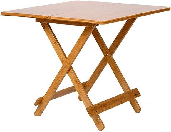 Table pliante carrée, petite table basse côté bois Bistro ...