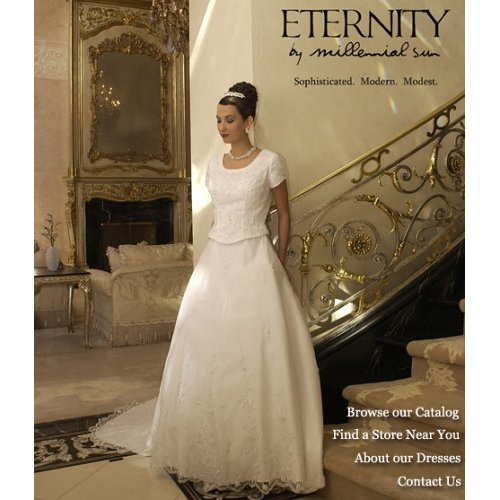 Eternity By Millennial Sun #7509 White Size 14 Bridal Gown LDS Modest At  Amazon Womenu0027s Clothing Store: Dresses
