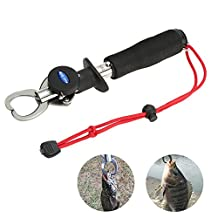 Fish Lip Gripper with Weight Scale and Ruler,Fish Gripper, Fish Hold and Controller,Max loading: 15kg