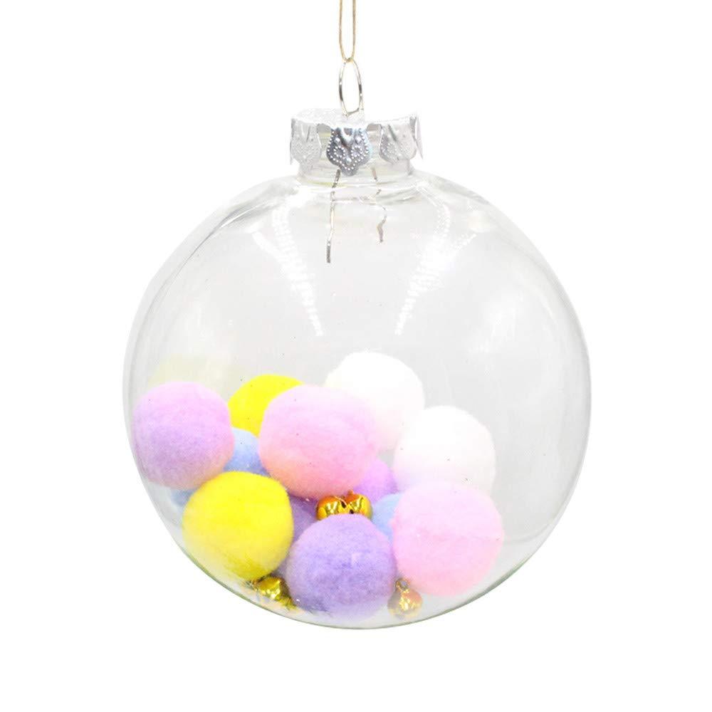 1 PC Boule de d/écoration de No/ël 001, A: 6cm Pendentif darbre de No/ël Transparent Malloom Chic Suspendu /à la Maison Ornement