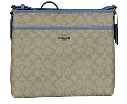 Coach FILE BAG IN SIGNATURE COATED CANVAS Womens Crossbody 2c0fe86088