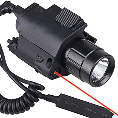 Red Laser with 200 Lumen Tactical Flashlight